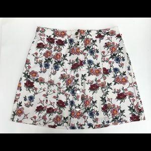 H&M | floral fall skirt